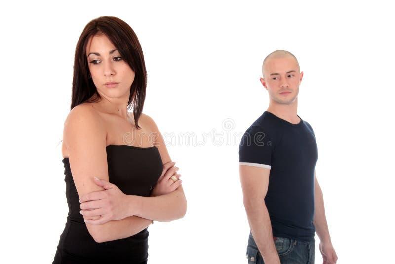 Paar, depressie royalty-vrije stock foto