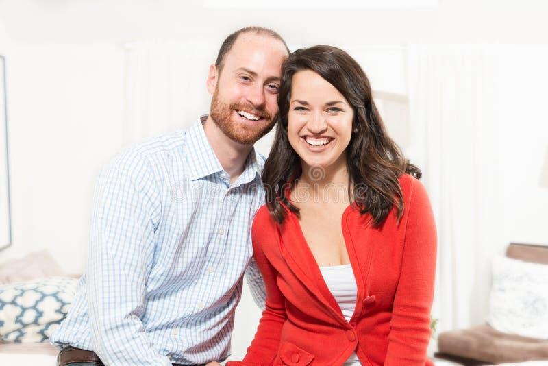 Paar die samen pret hebben royalty-vrije stock afbeelding