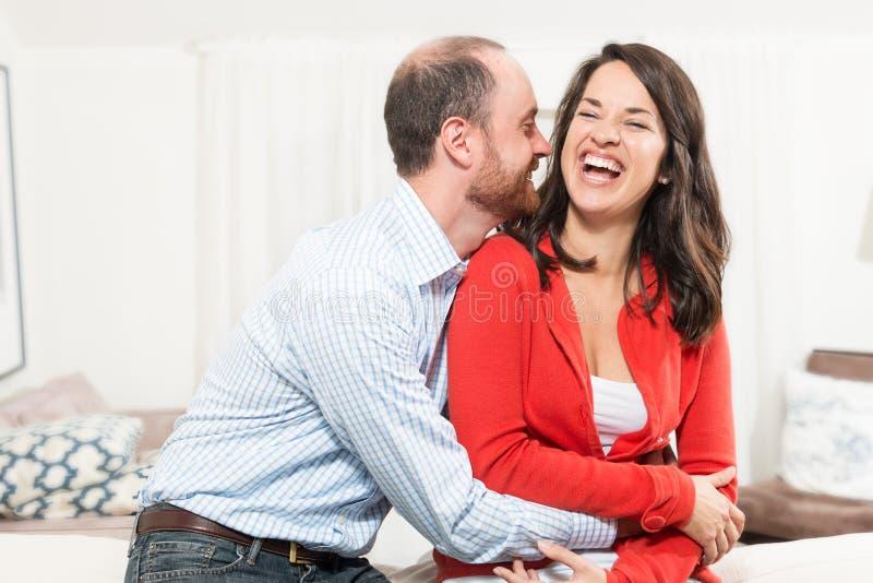 Paar die samen pret hebben royalty-vrije stock foto's