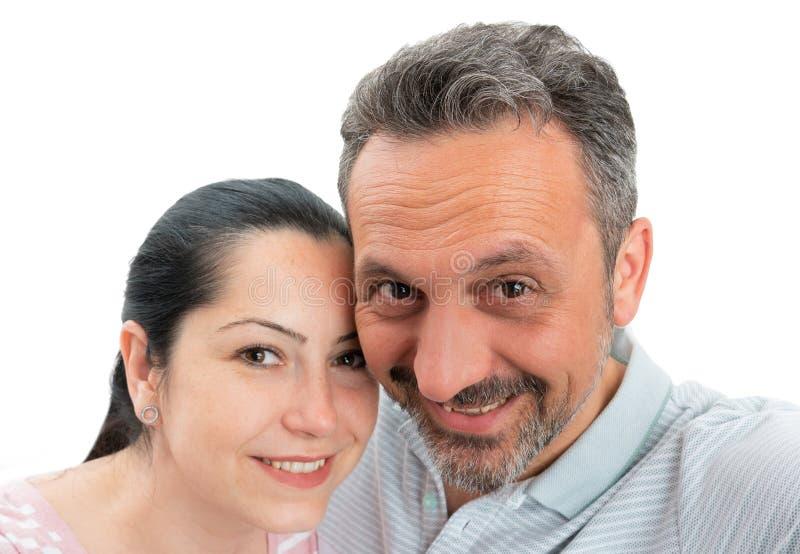 Paar die selfie nemen stock fotografie
