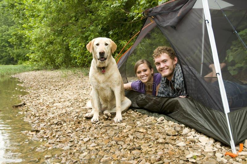 Paar in een tent