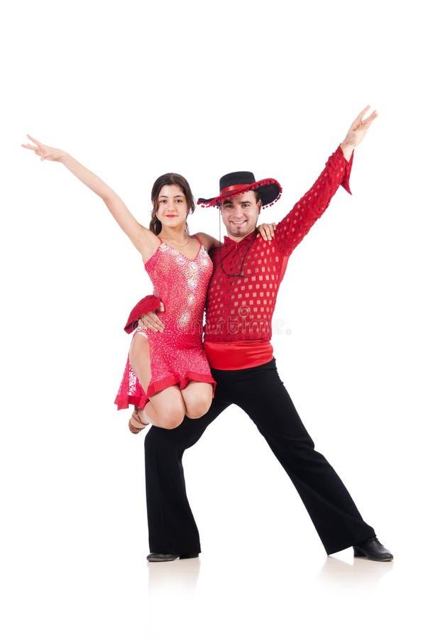 Paar geïsoleerdee dansers