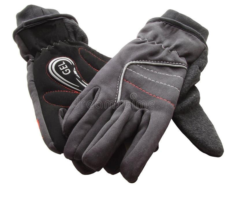 Paar-Gel-Schleife-Handschuhe lizenzfreie stockbilder