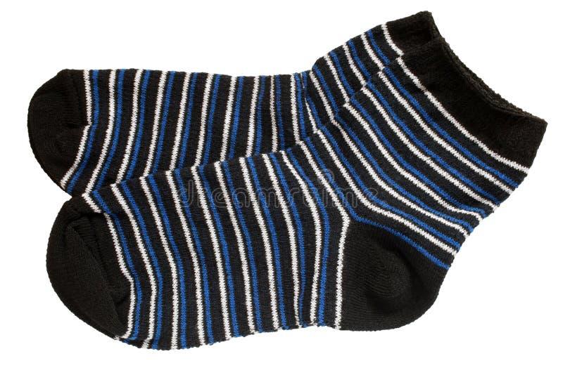 Paar gestreepte sokken van het kind royalty-vrije stock foto's