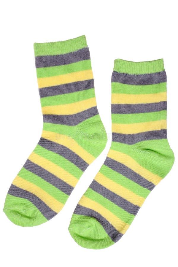 Paar gestreepte sokken van het kind royalty-vrije stock foto