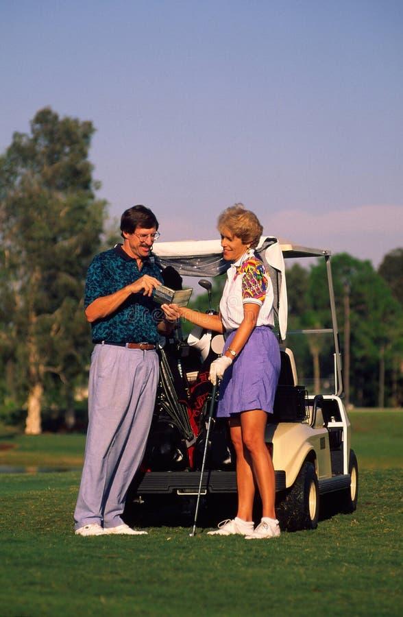 Paar Golfing royalty-vrije stock foto