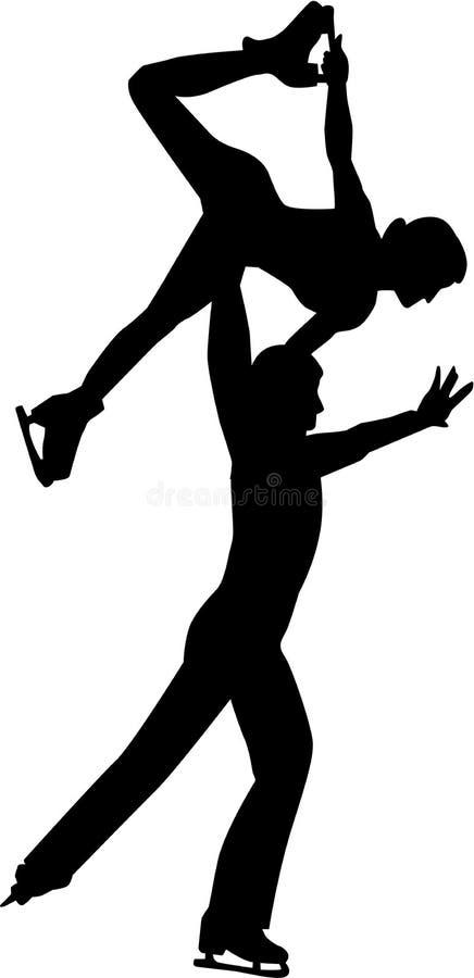 Paar het schaatsen stock illustratie