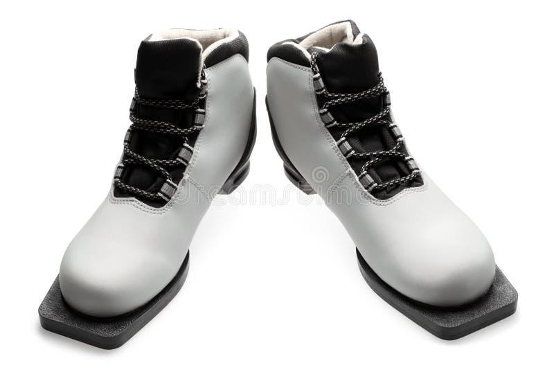 Paar laarzen van de Ski stock fotografie