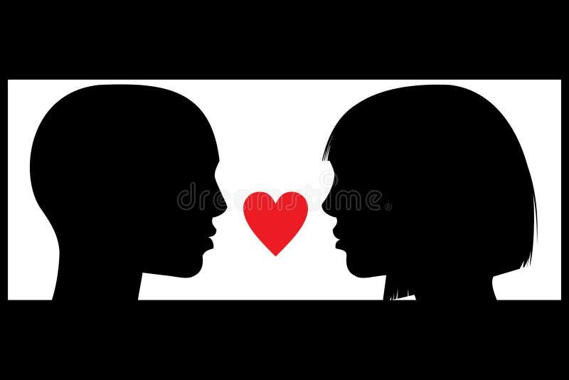 Paar in liefde royalty-vrije illustratie