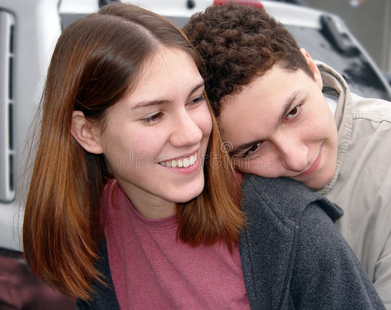 Paar in liefde royalty-vrije stock afbeelding