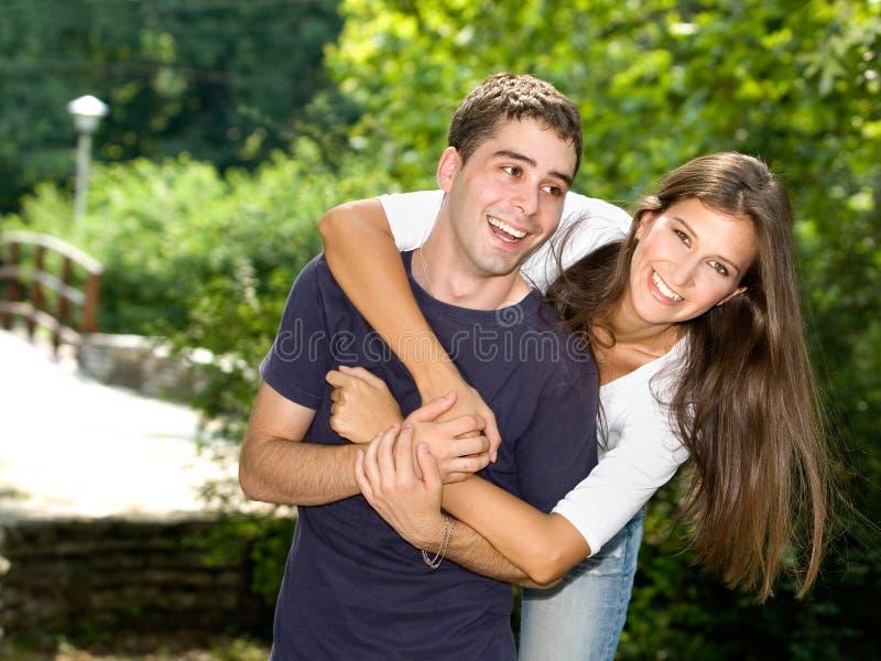 Paar in liefde stock foto's