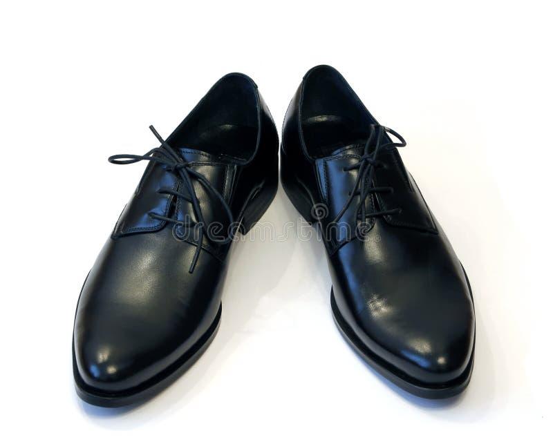 Paar man zwarte schoenen royalty-vrije stock afbeeldingen
