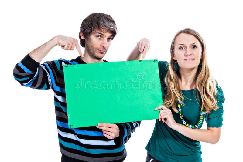 Download Paar met groene raad stock afbeelding. Afbeelding bestaande uit vrouw - 29500229