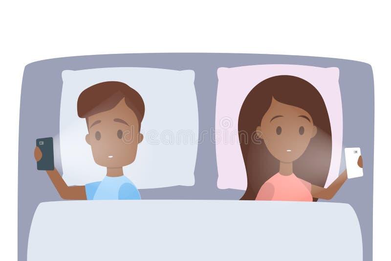 Paar met problemen in verhouding stock illustratie
