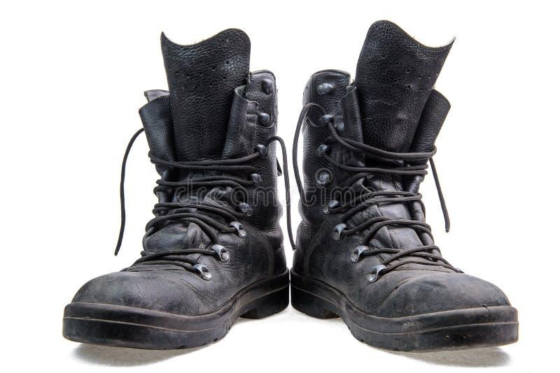 Paar militaire laarzen royalty-vrije stock foto