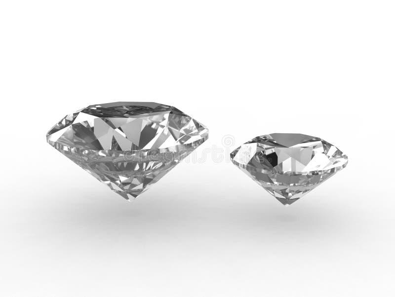 Paar mooie zirconiumhalfedelstenen stock illustratie
