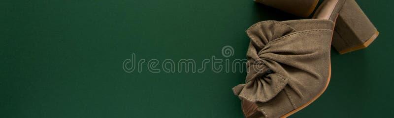 Paar muilezels/belemmeringen op donkergroene achtergrond, ruimte voor tekst stock foto