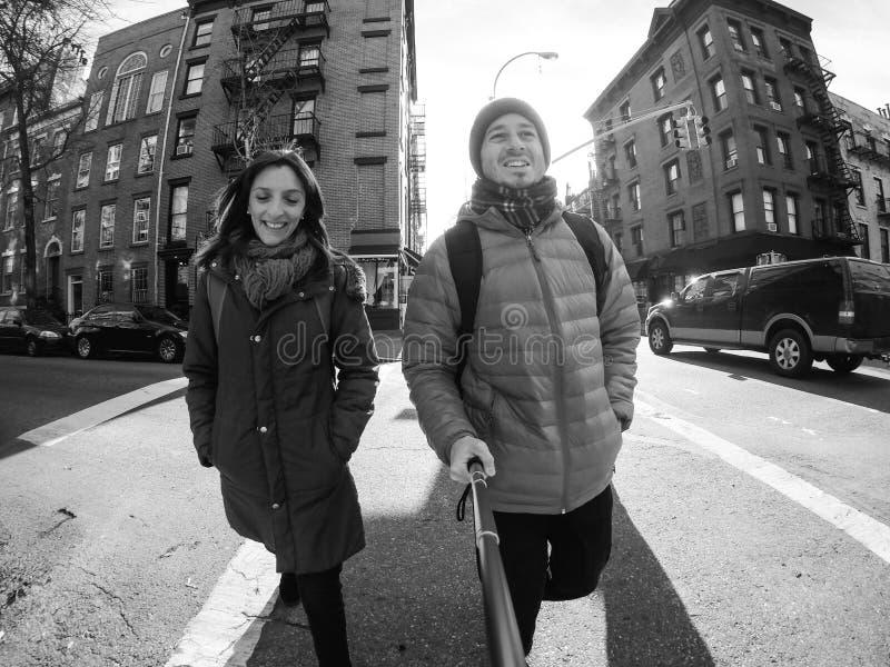 Paar in New York stock afbeeldingen