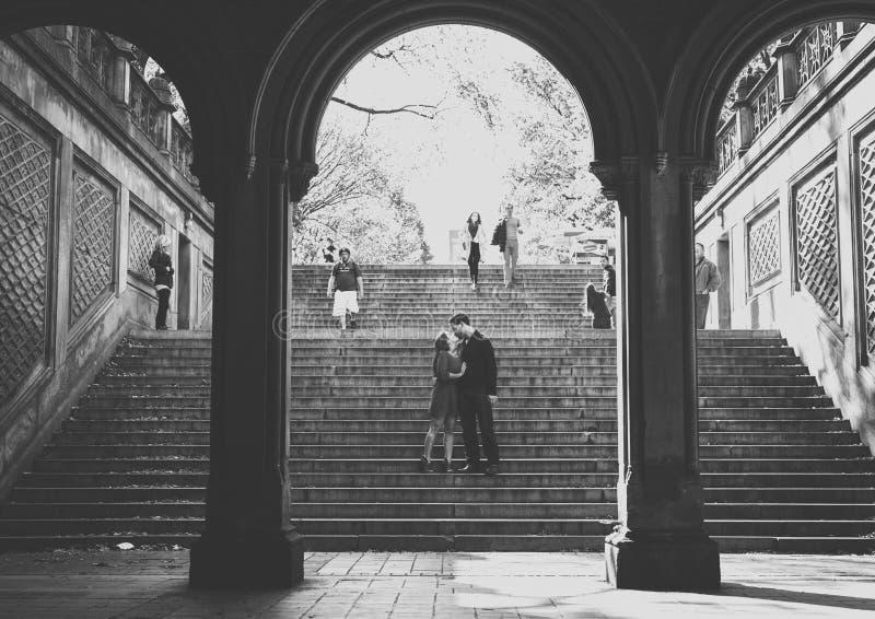 Paar in NYC royalty-vrije stock afbeeldingen