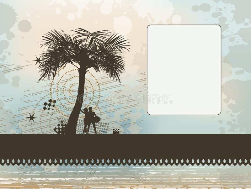 Download Paar Onder Palmframe Achtergrond Stock Illustratie - Illustratie bestaande uit kromme, groet: 29506019