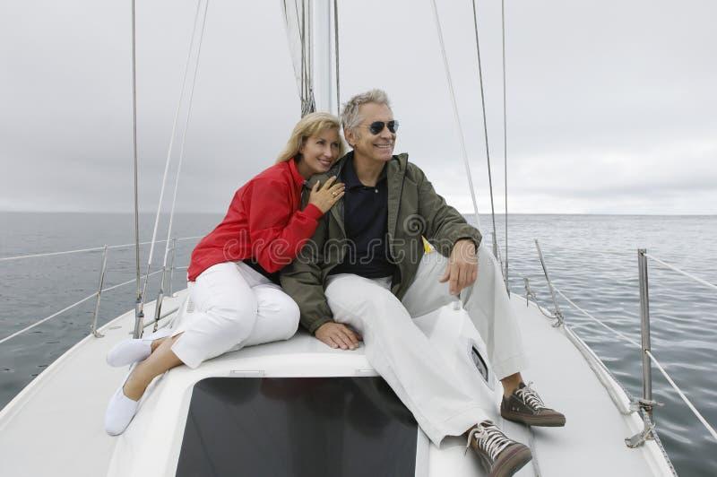 Paar op Jacht stock fotografie