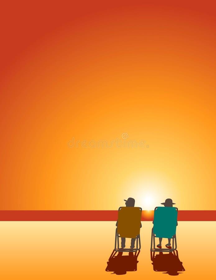 Paar op Strand vector illustratie