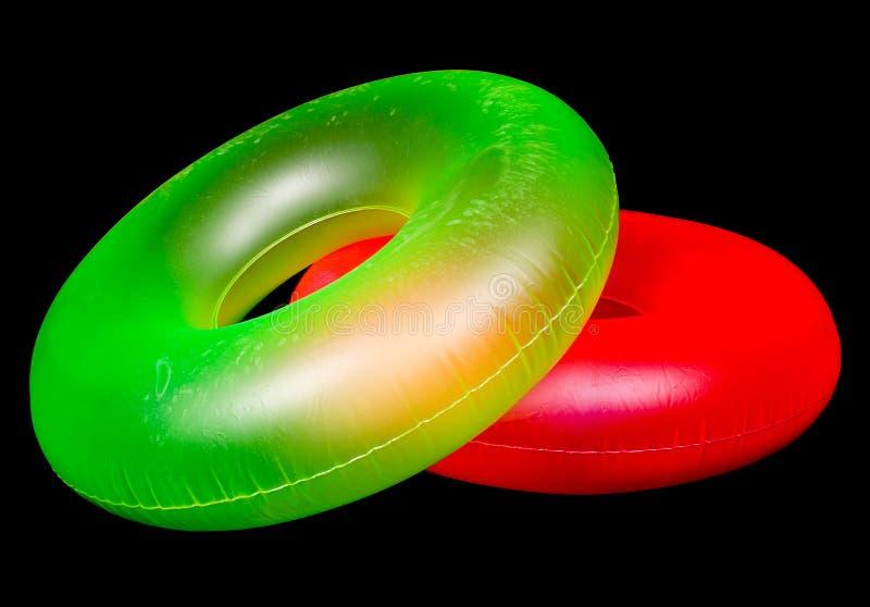 Paar Opblaasbare Ronde Buizen van de Pool royalty-vrije stock foto