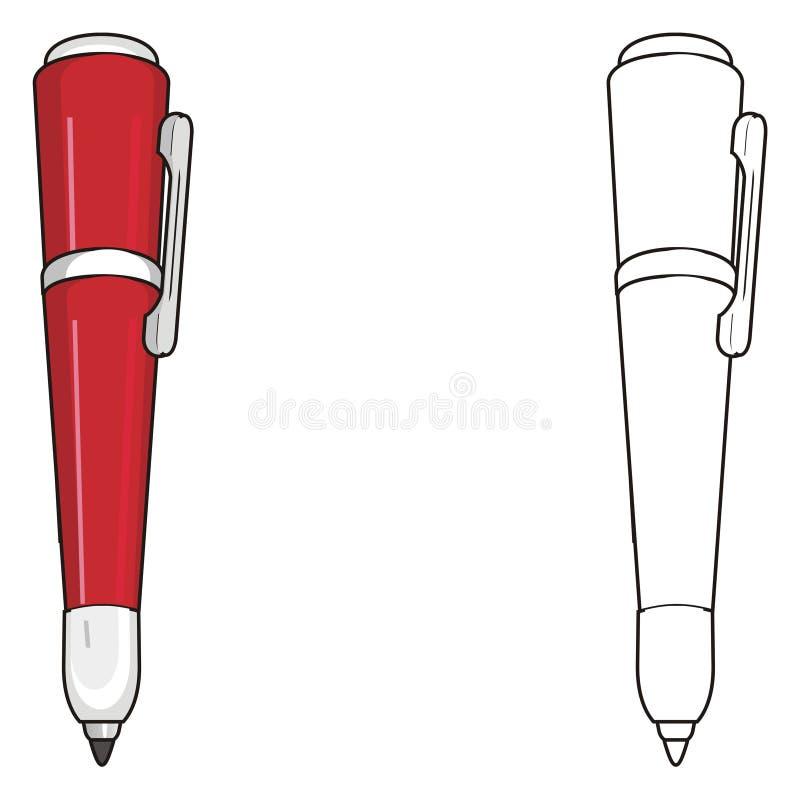 Paar pennen stock illustratie
