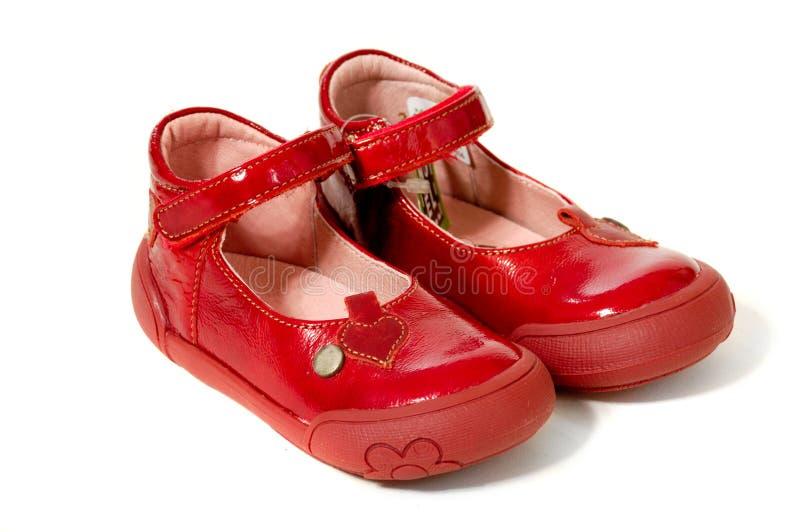 Paar rode schoenen royalty-vrije stock afbeeldingen