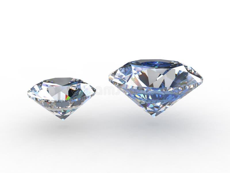 Paar ronde fonkelende diamanten royalty-vrije illustratie