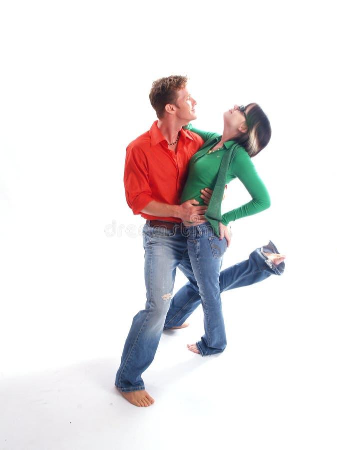 Download Paar in Rood en Groen stock foto. Afbeelding bestaande uit toevallig - 3793960