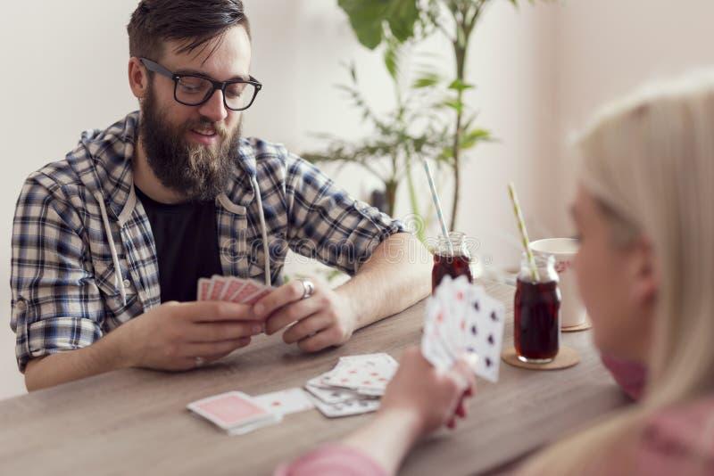 Paar` s kaartspel stock afbeeldingen