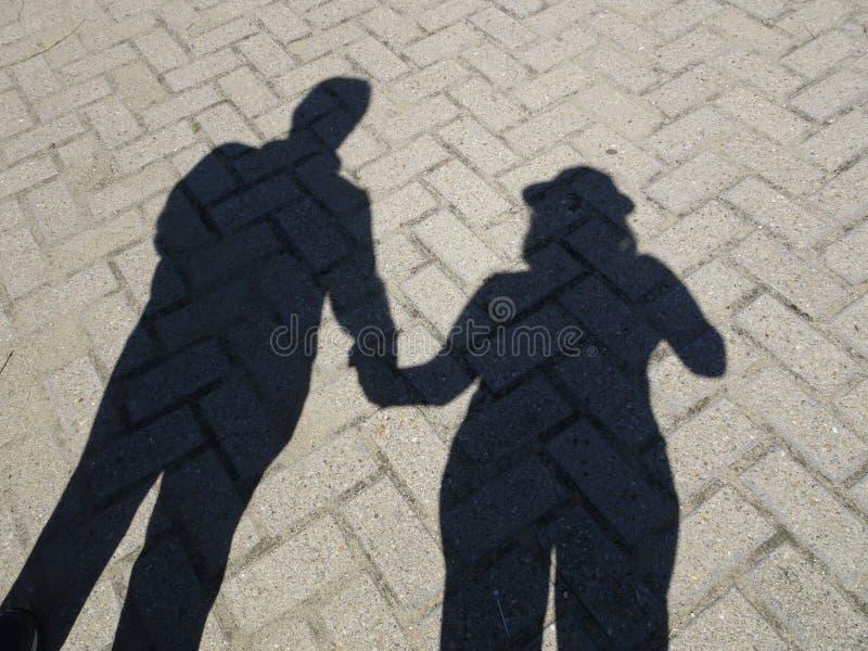 Paar-Schatten stockfoto