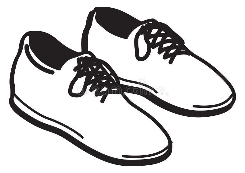 Paar schoenen royalty-vrije illustratie