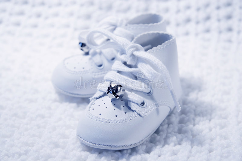 Paar Schoenen 2 van de Baby royalty-vrije stock afbeeldingen