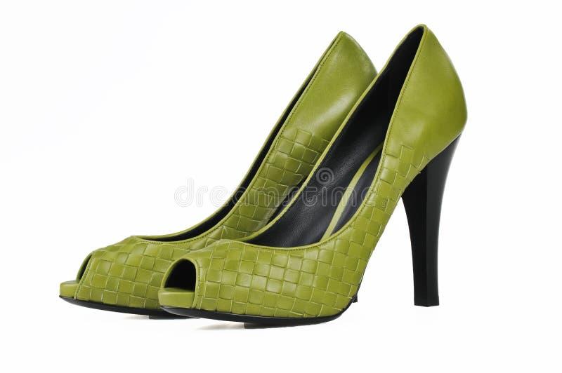 Paar schoenen van kledingsvrouwen stock afbeelding