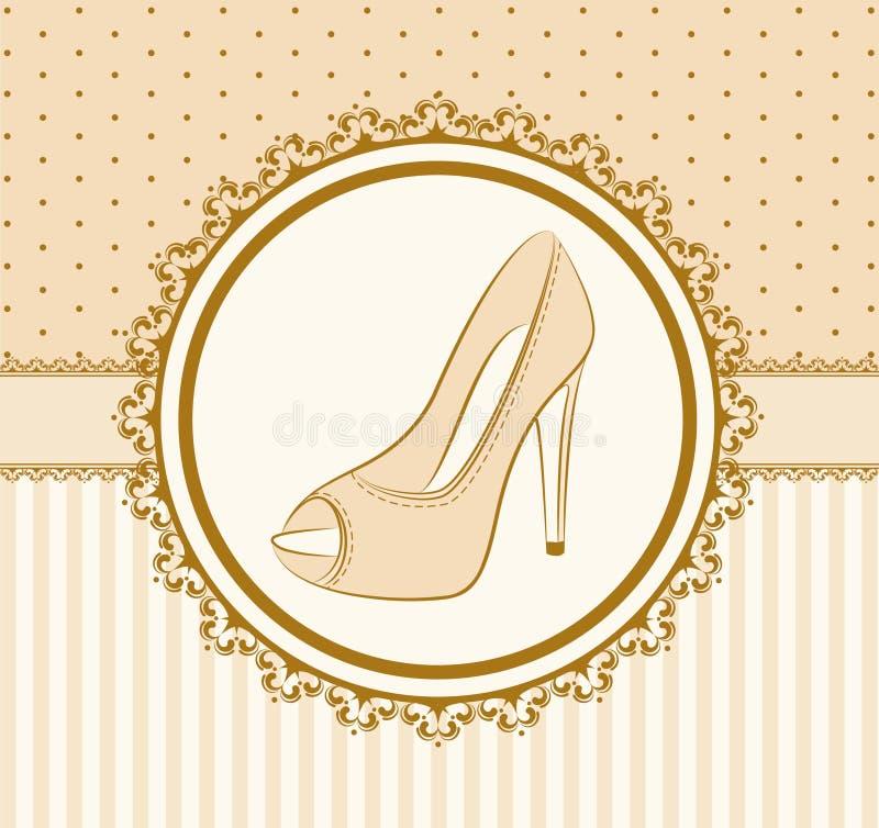 Paar Schuhe mit hohem Absatz stock abbildung