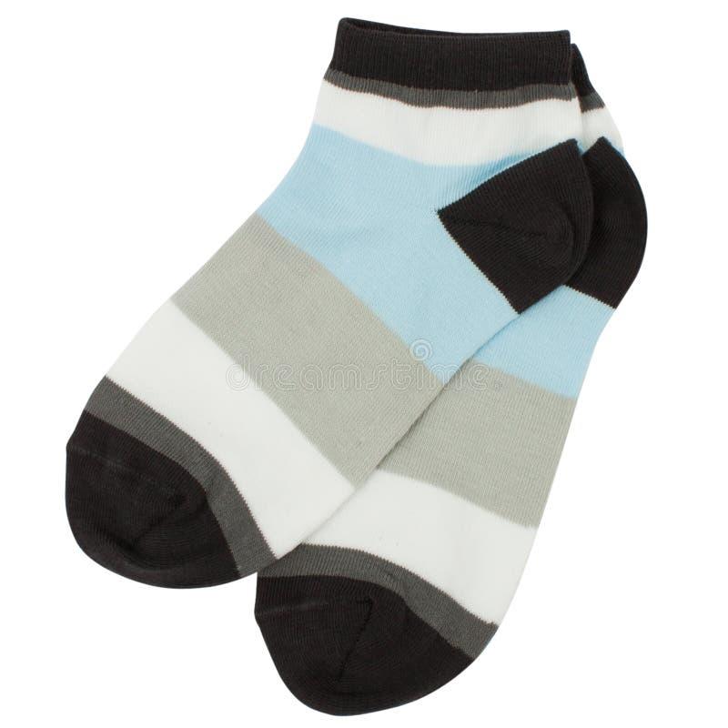 Paar sokken Geïsoleerd op een witte achtergrond royalty-vrije stock foto's