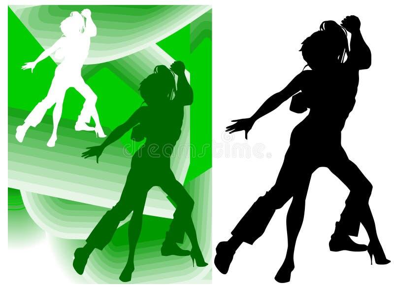 Paar-Tanzen lizenzfreie abbildung