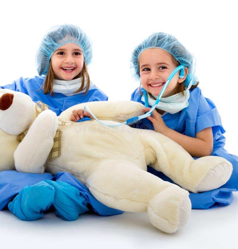 Paar van artsenkinderen royalty-vrije stock foto