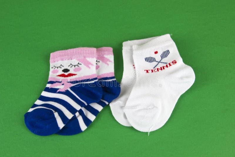 Paar van de nieuwe sokken van de pornografiebaby royalty-vrije stock fotografie