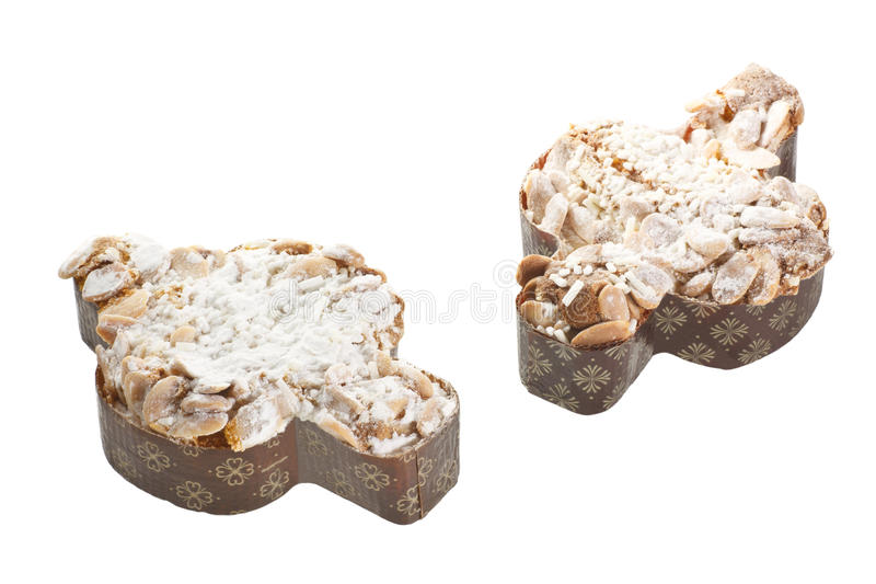 Paar van de traditionele Italiaanse cake van Pasen royalty-vrije stock fotografie