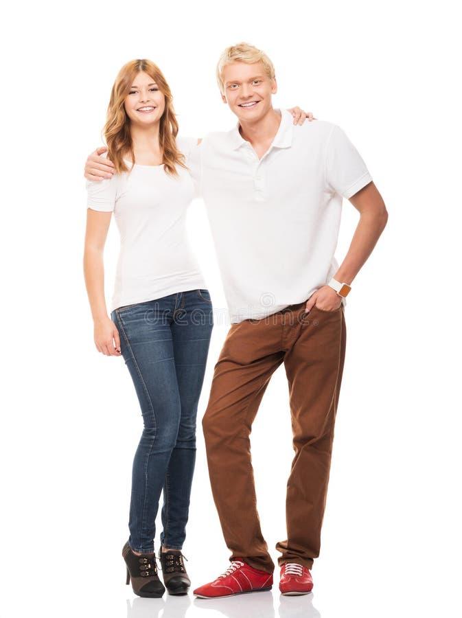 Paar van gelukkige tieners royalty-vrije stock afbeelding