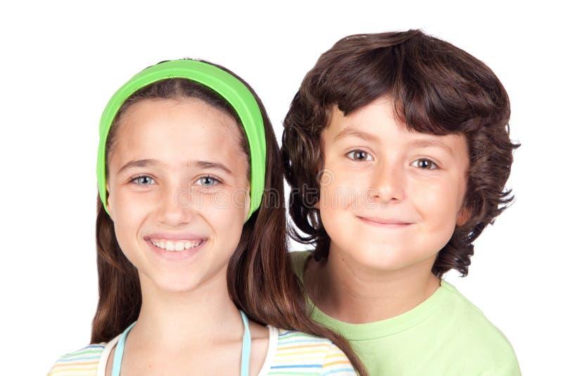 Paar van kinderen royalty-vrije stock foto