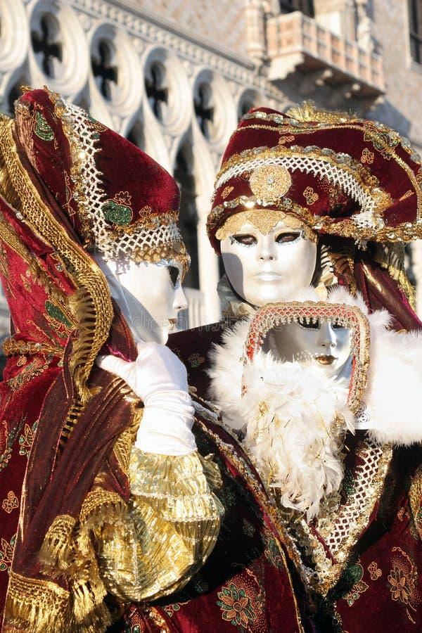 Paar van masker van Venetië stock afbeelding