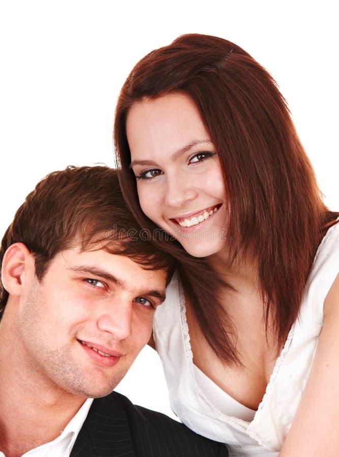 Paar van meisje en de mens. Liefde. royalty-vrije stock foto's