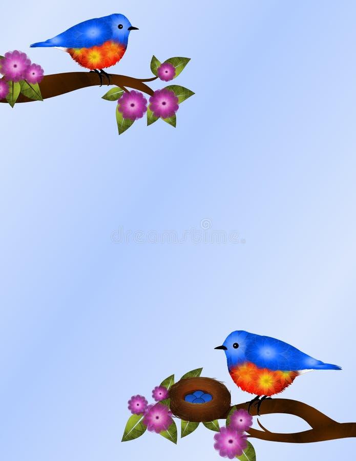 Paar van Sialia en het Ontwerp van de Nestkantoorbehoeften royalty-vrije illustratie