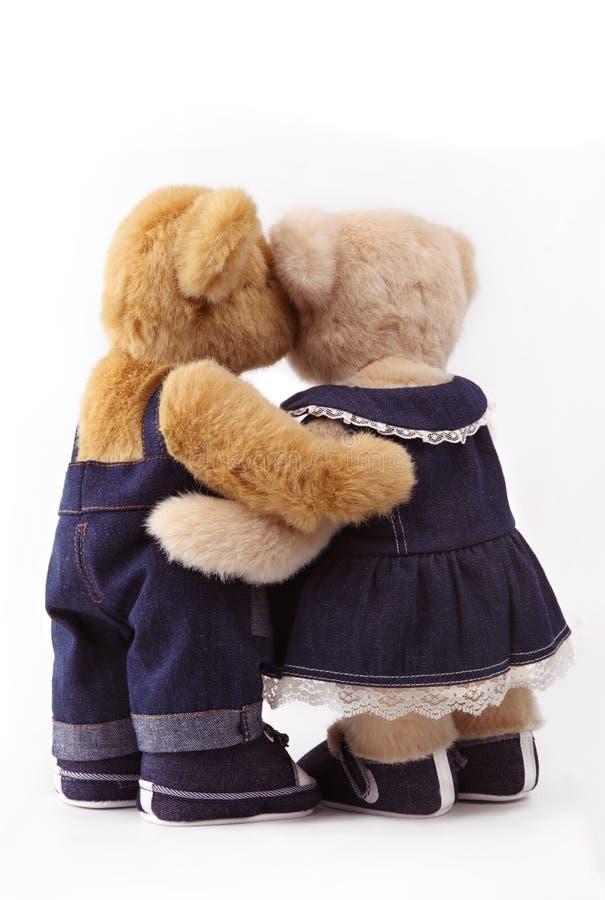 Paar van teddybeer royalty-vrije stock afbeeldingen
