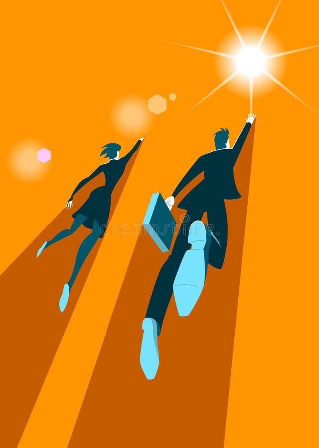 Paar van zakenlieden Manier aan succes stock illustratie