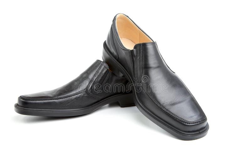 Paar zwarte man schoenen royalty-vrije stock foto's